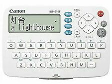 Canon WordTank Idp-610e Electronic Dictionary Japan
