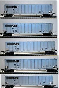 WALTHERS HO Scale NORFOLK SOUTHERN NS Aluminum BethGon Coalporter Cars; Set of 5