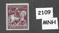 #2109  MNH Germany stamp / Oldenburg / Anton Gunther Horse 1945 WWII Third Reich