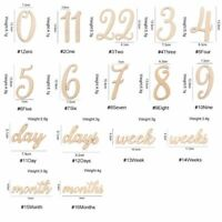 19pcs/lot Baby Milestone Cards Wooden Photography Milestones Memorial Monthly