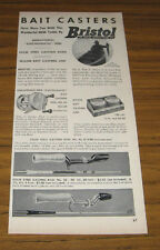 1950 Vintage Ad Bristol Electromatic Fishing Reels & Steel Rods Connecticut
