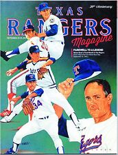 2013 Texas Rangers Program Nolan Ryan Volume 42 No. 11