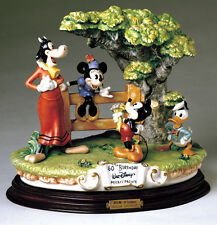 Mickey Donald Clarabelle Cow Capodimonte Disney Laurenz C.O.A. Original Box