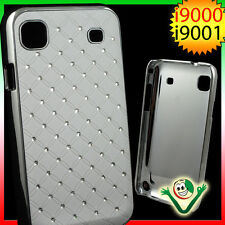 Custodia BRILLANTINI per Samsung Galaxy S i9000 back cover LUCE BIANCA i9001plus