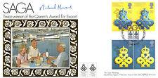 10 APRIL 1990 QUEENS AWARD BENHAM BLCS 52 FDC SIGNED MICHAEL HOWARD EMP SEC SHS