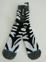 Stance Casual Combed Cotton Crew Socks Mens  L/XL NWT Zebra FL New-Old-Stock