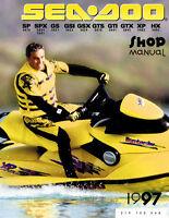 New Sea-Doo Service Shop Manual SP SPX GS GSI GSX GTS GTI GTX XP HX 1997 SeaDoo