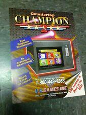 U.S Games COUNTERTOP CHAMPION 2 flyers- good original