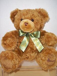Harrods of London Brown Sitting Plush Teddy Bear Stuffed Toy