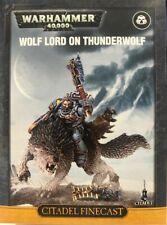 Space Wolves Wolf Lord on Thunderwolf Games Workshop Warhammer 40k GW