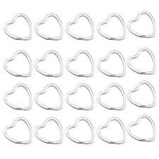 20Pcs Heart-Shaped Split Rings Key Rings 3*3cm N3
