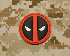 3D PVC Deadpool GITD Morale Patch VELCRO® Brand Hook Backing