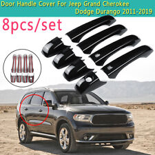 Black Door Handle Cover For Jeep Grand Cherokee Dodge Durango 2011-2019 Gloss