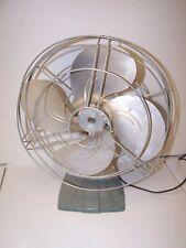 Vintage 12 RETRO CI BASE oscillating Electric Fan Bullet BACK MOTOR