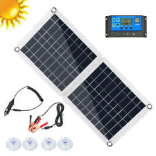 60W 18/12/5V Solar Panel Dual USB 10A Controller For Car Camping Battery Charge