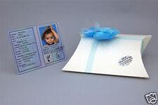Bomboniere Battesimo compleanno nascita personalizzate bimbo carta d'identità