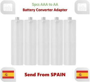 5pcs AAA to AA Size Cell Battery Converter Adaptor Holder Case