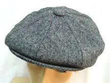dbfdb2d3cc5 Epoch Mens Gray houndstooth Newsboy Gatsby button top hat Size Medium