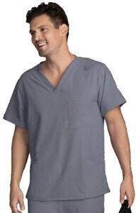 "Jockey MENS Scrubs Style 2371 V-Neck Detailed Scrub Top in ""Pewter"" Size S"