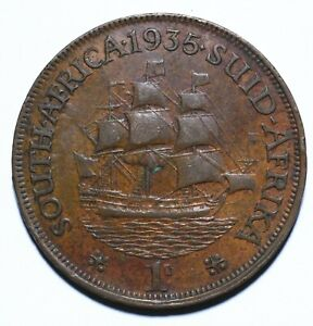 1935 South Africa One 1 Penny George V - Lot 2087