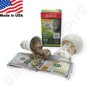 Light bulb Diversion Safe Hidden Stash safe Home Office Security Secret Stash