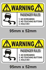 Rules For Passengers Funny Car Novelty Vinyl Decal Sticker