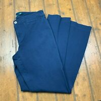 Lauren Ralph Lauren Womens Flat Front Dress Pants Sz 6 Navy Blue Stretch Career