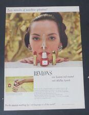 Original Print Ad 1948  REVLON'S Nail Polish All-Plus Lipstick Model