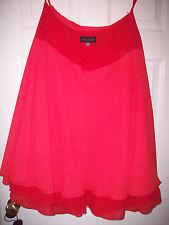 Coast Posh Red Silk Skirt+Balerina  Net Underskirt sz 12 Fire  RRP J150