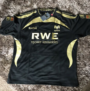 Osprey Black And Gold Rugby Shirt Size 3XL
