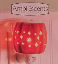 Ambi Escents Starlit Pumpkin Holloween Plug-In Outlet Warmer 4 Scented Wax Cubes