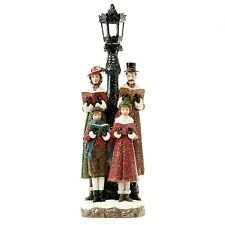 Holiday Time 18 Inch Christmas Carolers Lamp post Singers Indoor Or Outdoor NEW
