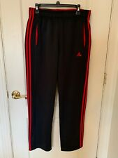 Mens Adidas Climawarm Athletic Pants Black with red stripes- Size Large
