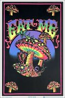 Eat Me Blacklight Poster 23 x 35 Mushroom Psychedelic Trippy Gift