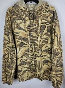 Wildfowler Outfitter Mens XL Farmland Brand Camouflage Unlined Hooded Jacket