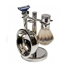 Wet Shaving Kit Shave Razor Badger Brush Stand Soap Bowl Pure Man Hair Mug Set