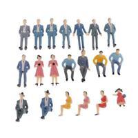 20pcs G Scale coloful 1:30 Painted Model Train Park People Figures