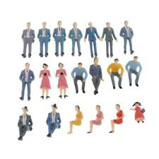 20pcs G Scale coloful 1:30 Painted Model Train Park People Figures