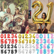 """30""""-32""""inch Number Foil Balloons Large Digit Birthday Party Wedding Decor Ballon"""