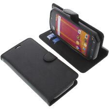 Tasche für Cat S60 Smartphone Book-Style Schutz Hülle Handytasche Buch Schwarz