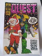 Quest (Palomas, Wolverhampton) classic Judge Dredd rave flyer: 7th Dec 1991