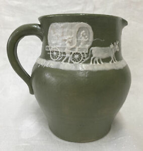 PISGAH FOREST NC Southern Art Pottery Pitcher Signed Stephen