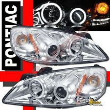 05-10 Pontiac G6 Dual CCFL Halo Angel Eyes LED Projector Headlights Chrome