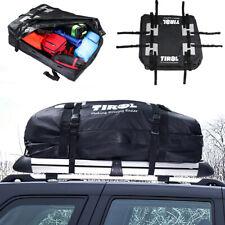 Black PVC Waterproof Cargo Roof Bag Luggage Truck SUV Car Rooftop Storage Bag
