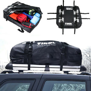 Black PVC Waterproof Cargo Roof Bag Luggage Truck SUV Car Rooftop Storage Bag