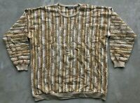 Vintage Tundra Canada Men's Knit Sweater Size XL Cosby Coogi Biggie