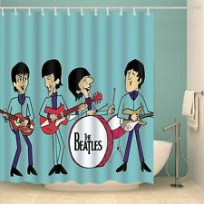 Rock Band The Beatles Shower Curtain Waterproof Polyester Fabric Bath Curtain