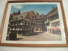 """Photograph""""English Tudor Style Buildings in Medival Town"""""""