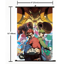 Hot Anime Game Super Mario Bros Wall Scroll Poster cosplay Gift 2289