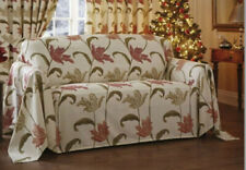 "KINSALE SOFA THROW TERRACOTTA AND CREAM 138"" X 64"" BRAND NEW"